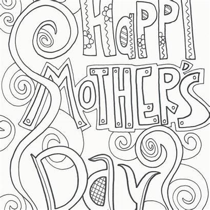 Mothers Coloring Mother Printable Kleurplaten Doodle Happy