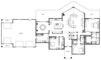 Unique Open Floor Plan House Plans