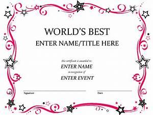 Award Certificate Template Pinteres