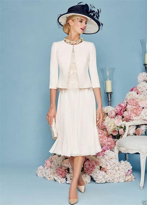 mother   bride dresses tea length  pieces