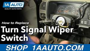 How To Replace Turn Signal Wiper Switch Chevy Suburban 88