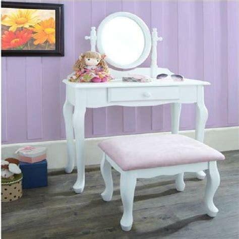 girls white vanity table vanity set girls makeup dressing table stool mirror teen