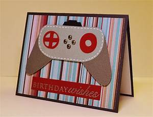 Masculine Handmade Birthday Card, Video Game, Geek ...