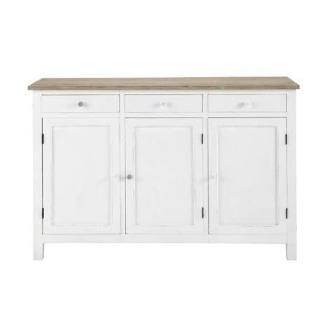 Wooden Sideboards Uk by Wooden Sideboard In White W 135cm Bloom Maisons Du Monde