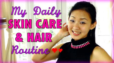 daily skin care hair routine