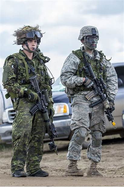 Army Police Military Canadian Combat Town Await