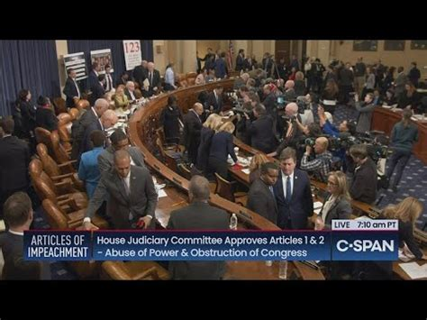 House Judiciary Committee Debates & Votes on Articles of ...