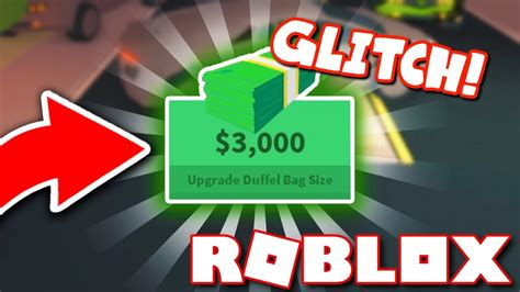 glitch money  roblox jailbreak youtube