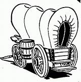 Wagon Covered Clipart Clip Drawing Western Coloring Pages Clipartmag sketch template