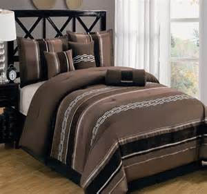 claudia purple shades chocolate and gray 7 piece luxury comforter set ebay