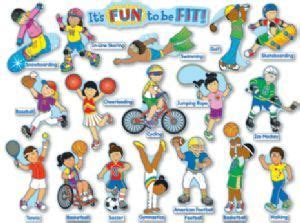 fun   fit wall display fitness  kids sports