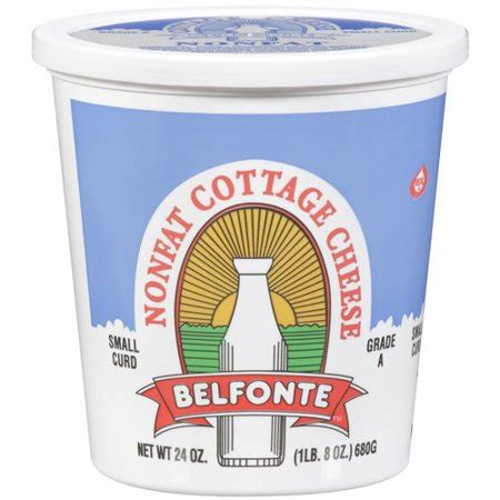 Nonfat Cottage Cheese Belfonte Nonfat Small Curd Cottage Cheese 24 Oz Walmart