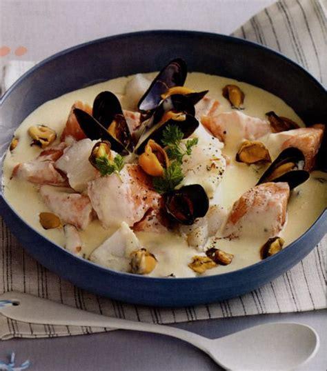 cuisine vins recette blanquette aux deux poissons et aux moules