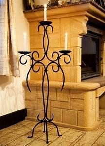 Kerzenständer Hoch Metall : kerzenst nder artus 100 cm schmiedeeisen 21216 kerzenleuchter kerzenhalter metal ebay ~ Indierocktalk.com Haus und Dekorationen