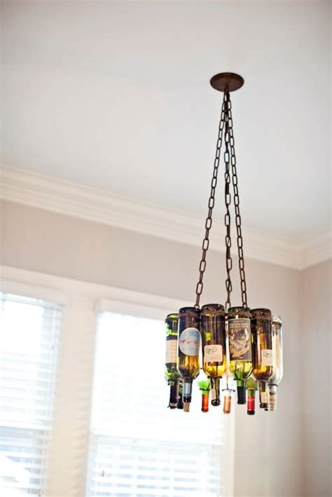 bottle lights light fixtures and wine bottles on