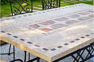 Table Mosaique Jardin : table de jardin mosa que en pierre naturelle tampa 160 et 200cm living 39 roc ~ Teatrodelosmanantiales.com Idées de Décoration