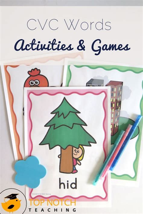 cvc words activities games set   images cvc