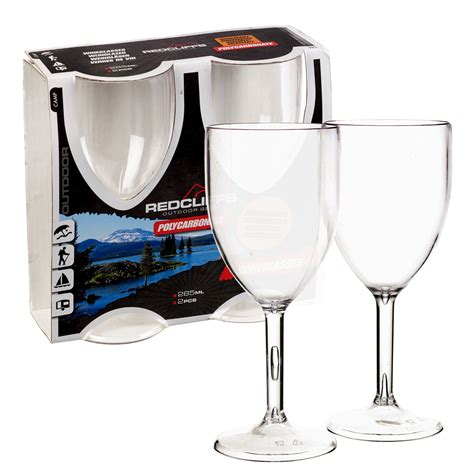 polycarbonate barware 2 x 285ml polycarbonate outdoor garden wine glasses