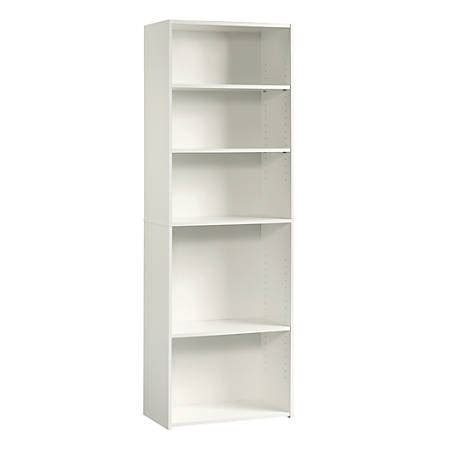 Sauder Bookcase White by Sauder Beginnings Bookcase 5 Shelf Soft White Office Depot