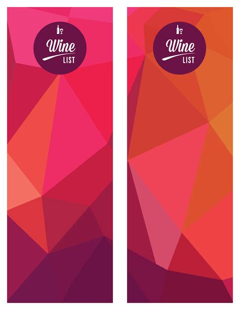 The Templat by Consort Display Group Podia Template Wine Menu