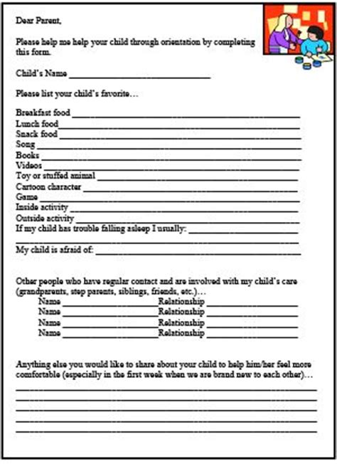 preschool forms for parents best 25 daycare forms ideas on childcare 240