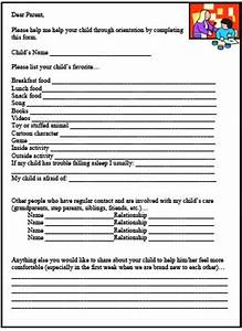 17 best childcare forms images on pinterest daycare With daycare information sheet template
