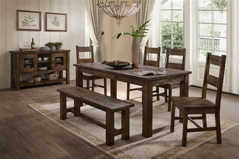 Dining Room Table With Bench And Chairs by Denby Table 4 Side Chairs Bench At Gardner White