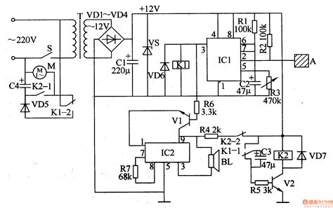 Electric Ac Wiring Diagram With Three Fan by Electric Fan Anti Injured Controller Control Circuit