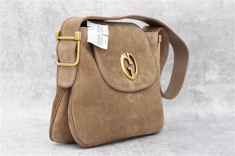 gucci  medium suede shoulder bag  jills consignment