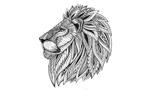 Gambar Mewarnai Kepala Singa • BELAJARMEWARNAI info