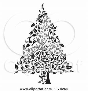 Clip Art Black And White Xmas Trees Clipart - Clipart Suggest