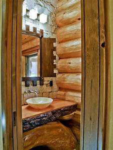 log sink houzz With log cabins with bathrooms