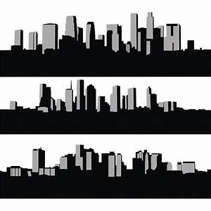 Vector for free use: City skyline