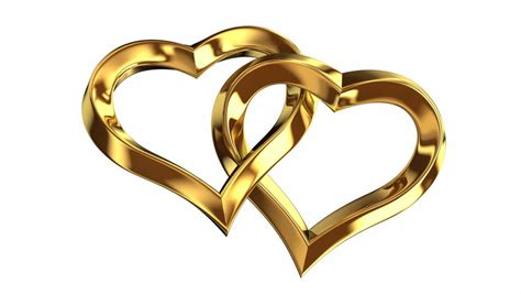 animation of two heart shape wedding rings stock footage