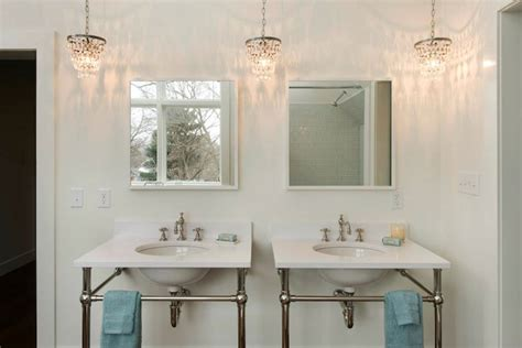Chandelier Bathroom Vanity by Drops Chandelier Cottage Bathroom Pinney Designs