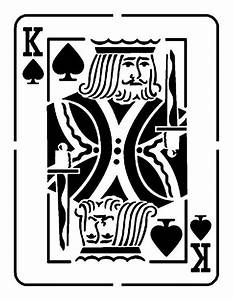 Playing cards, Stencils and Jack o'connell on Pinterest