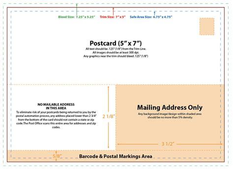 5x7 postcard template postcard template design slim image