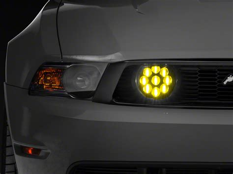 raxiom yellow led mustang fog lights 101689 05 12 gt