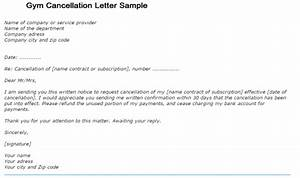 Gym cancellation letter writing professional letters for Gym membership cancellation letter template free