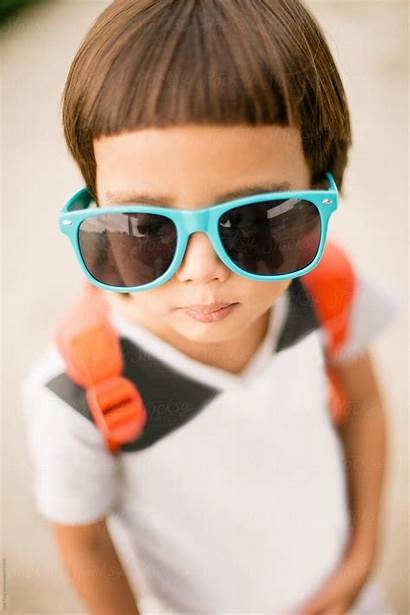 Kid Sunglasses Cool Wearing Nabi Stocksy Tang
