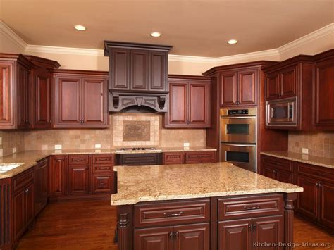 kitchen ideas with cherry cabinets pictures of kitchens traditional two tone kitchen