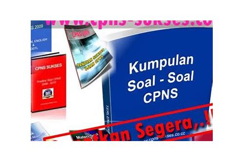 baixar pdf soal cpns 2013 gratis