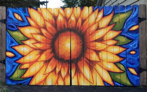 sunflower mural delaware   mural photo album