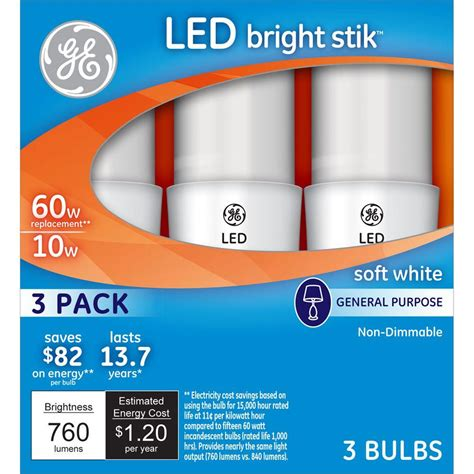 ge 60w equivalent led bulbs 3 pack only 3 99 reg 7 97