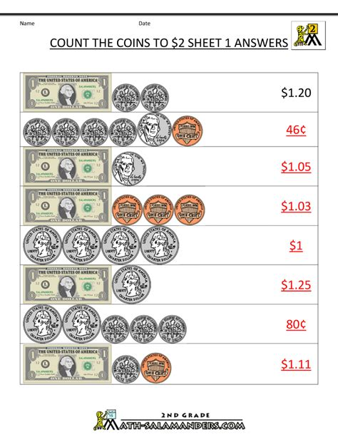 math money worksheets resources 2nd grade money worksheets up to 2