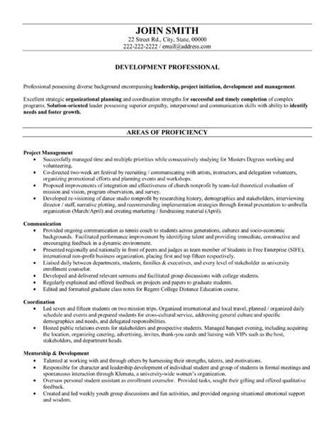 Business Resume Outlines by Development Professional Resume Template
