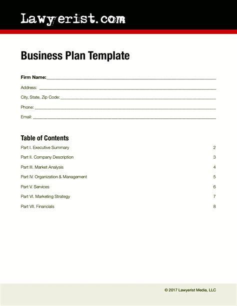 Business Template Business Plan Template