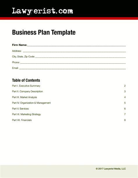 Business Plan Template Business Plan Template