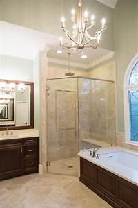 Bathroom, Remodel, Glass, Enclosed, Shower, Rainfall, Shower