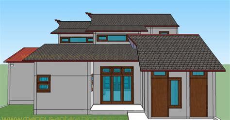 desain rumah  rumah minimalis bertingkat belakang images